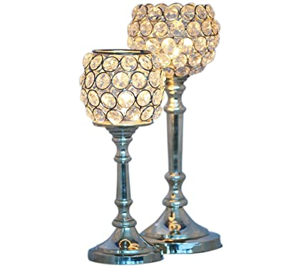 amazon com cultural hub diamond candle stand crystal design tea
