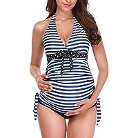 a7b74f33f7684 Zando Women's Maternity Swimsuit 1 PC/2 PCS Pregnancy Beach Swimwear Plus  Size Bathing Suits