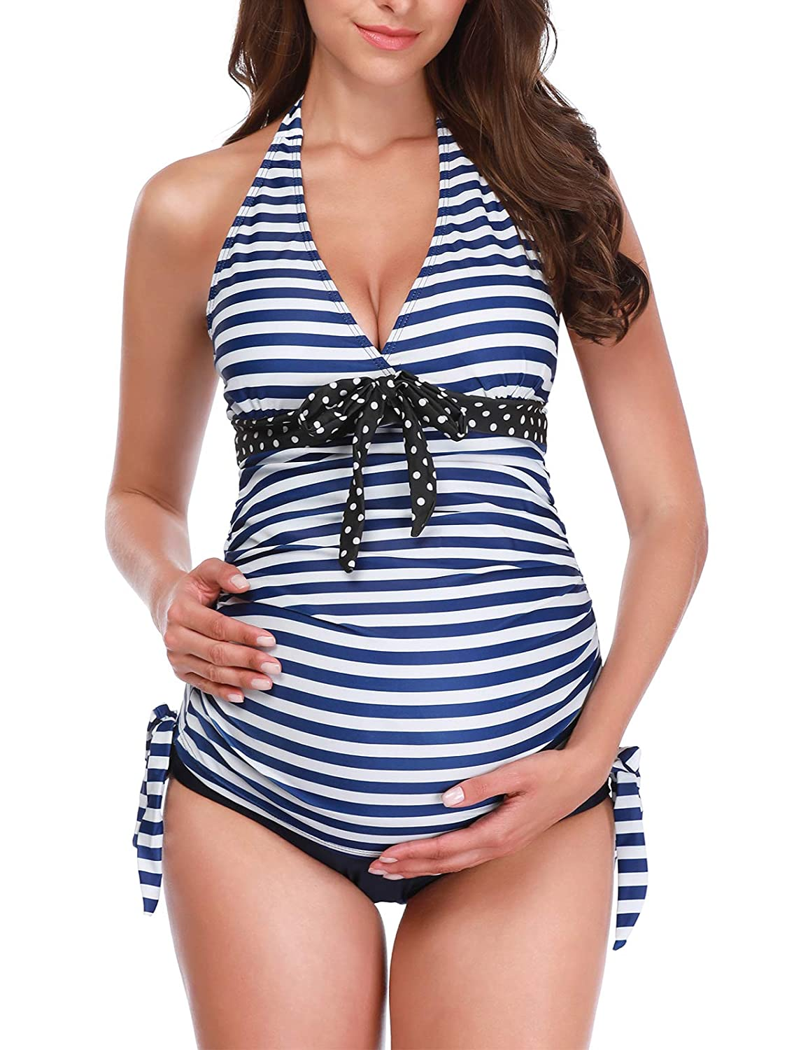 fresh styles largest selection of largest selection of 2019 Zando Women's Maternity Swimsuit 1 PC/2 PCS Pregnancy Beach Swimwear Plus  Size Bathing Suits Maternity Tankini Swimsuits