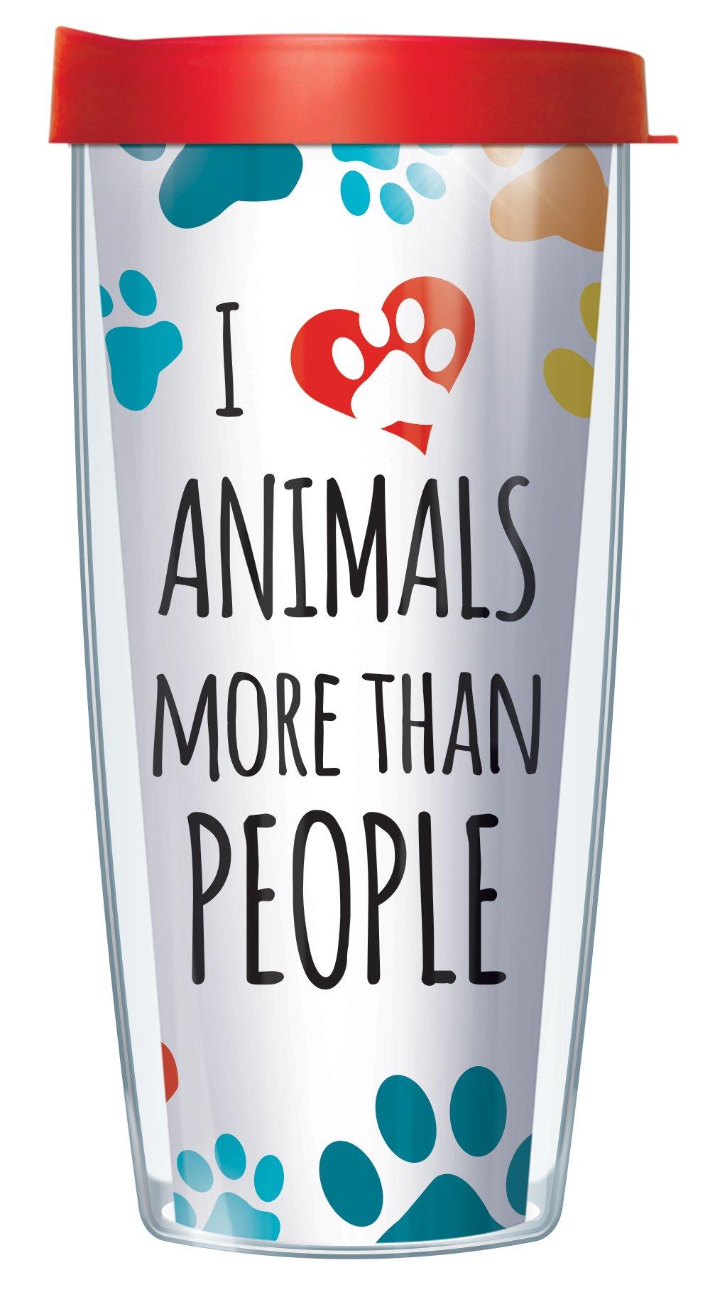 I Love Animals Tumbler Cup 16oz Mug with Lid