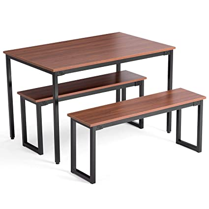 Incredible Amazon Com Rabinyod Bulan 3 Piece Wooden Dining Table Set Gmtry Best Dining Table And Chair Ideas Images Gmtryco