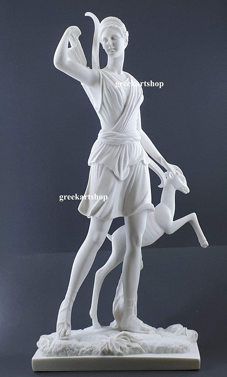 Diana of Versailles Greek Goddess Artemis Statue Sculpture Cast Marble Copy 21.6 in