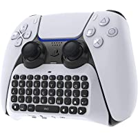 Kaigital PS5 Controller Wireless Keyboard, Bluetooth 3.0 Mini Portable Gamepad Chatpad with Built-in Speaker & 3.5MM…