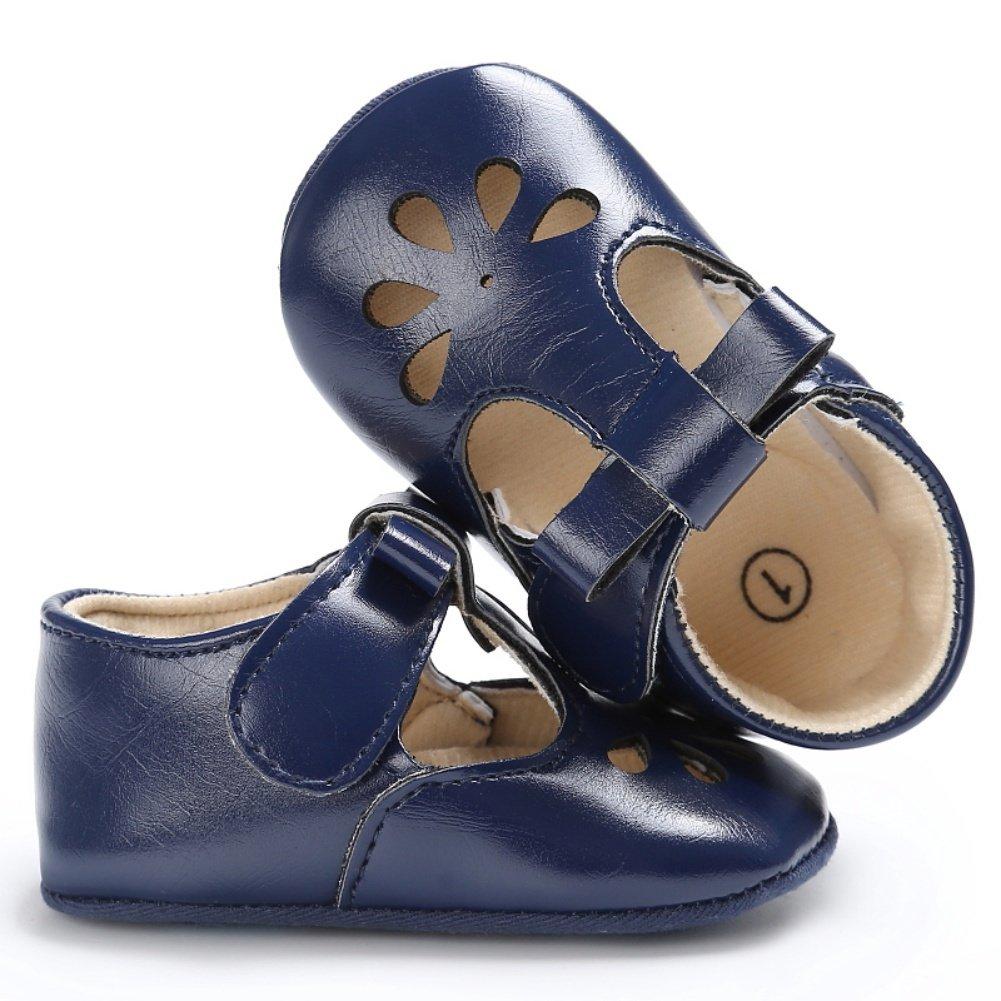BOBORA Baby First Walking Shoes Baby Girls Princess Hollow PU Casual Shoes