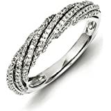 Bague-Argent 925/1000–Diamant-Taille 54 JewelryWeb - 1/2