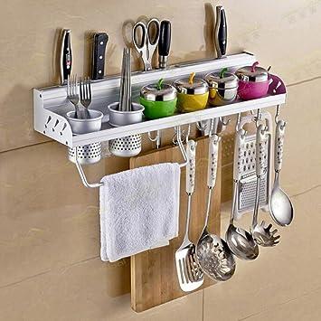 Lovely Multifunctional Wall Hanging Aluminum Kitchen Rack Of Wall Shelf, Condiment  Bottle Rack, Utensil/ Photo