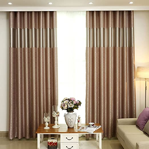 Amazon.de: Vorhänge Vorhänge einfache moderne Farbe Vorhänge ...