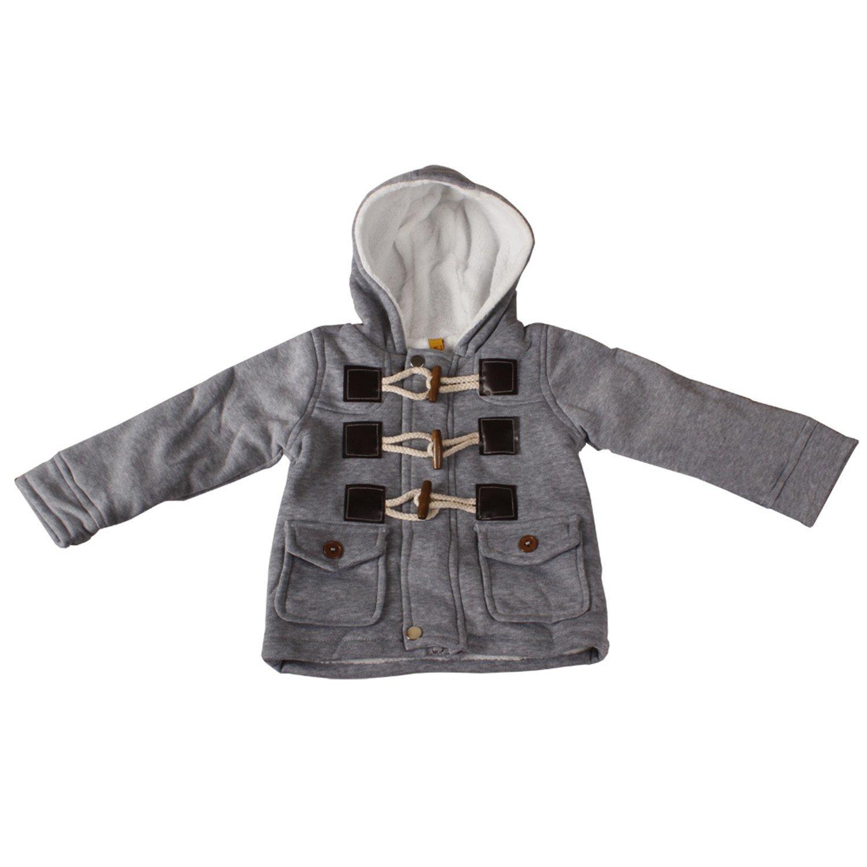 xhorizon TM FLK t178幼児用ベビー男の子コート3 3歳児冬 2-3 Years グレー B00NUSIS44