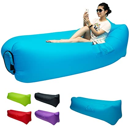 Outstanding Amazon Com Great Home Inflatable Sofa Air Sleeping Bag Alphanode Cool Chair Designs And Ideas Alphanodeonline