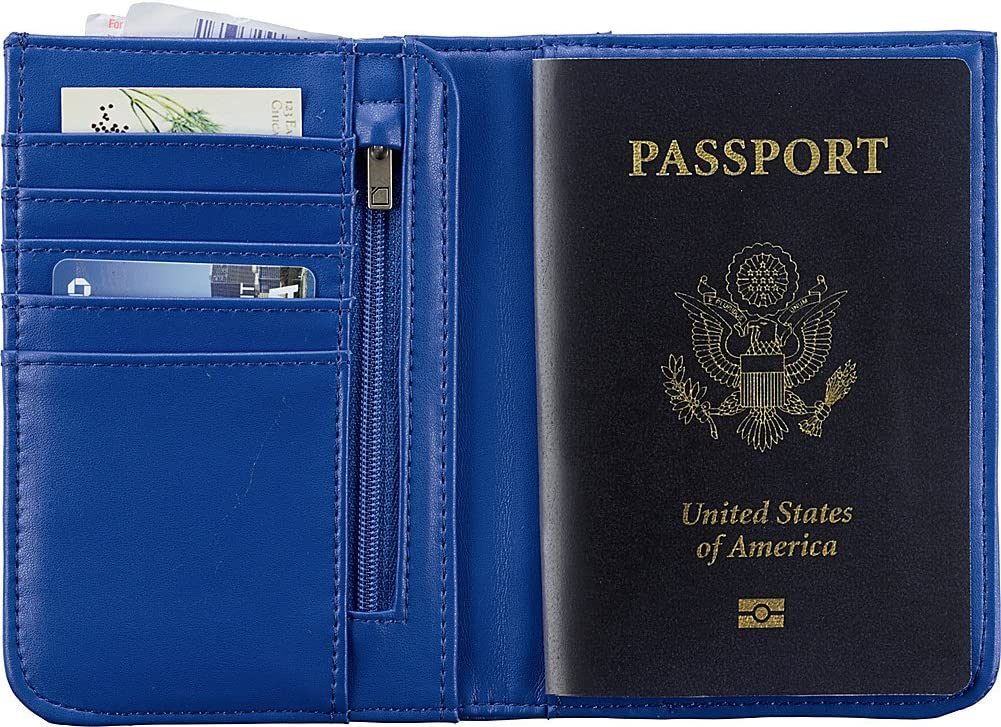 Carry Passport Aqua Lewis N Clark Shetravels RFID-Blocking Wallet Clutch ID /& Credit Cards with Interior Zip Pockets Travel Purse for Women 5 Card Slots