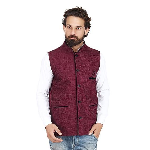 Mens cotton vest in purple FUC3zL