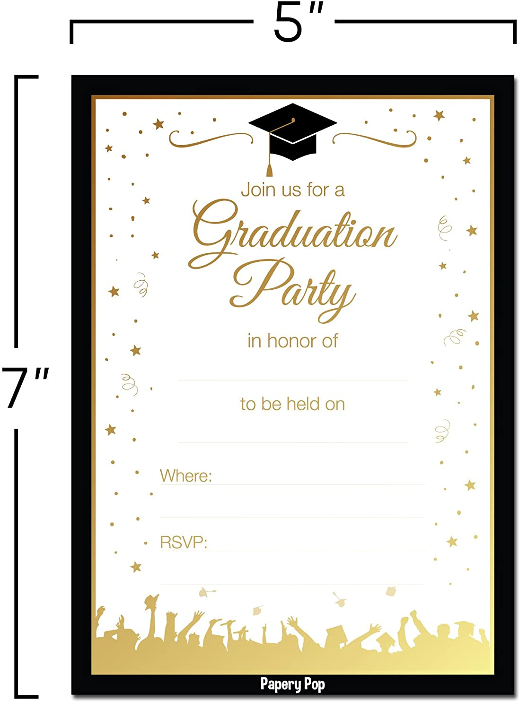 Amazon.com: 2018 Graduation Party Invitations with Envelopes (30 ...