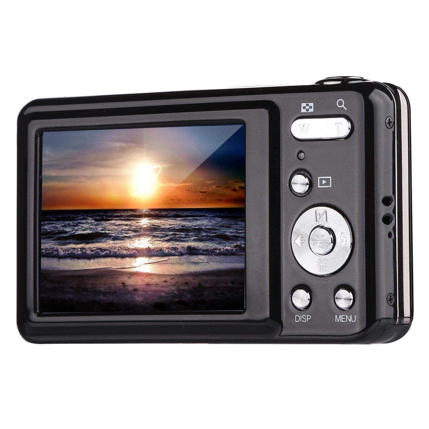 Digital Camera,Bigaint BG007 2.7' TFT 1280x720 5X Optical Zoom 15MP HD Anti-shake Smile Capture Digital Video Camera-Black