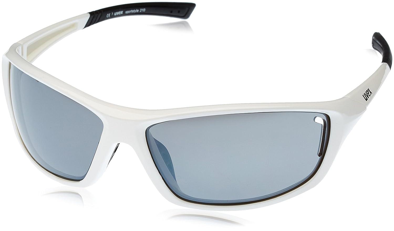 Uvex Unisex Sportsonnenbrille Sportstyle 210, weiß (White Black/Lens Litemirror Silver), One Size, 5306058816