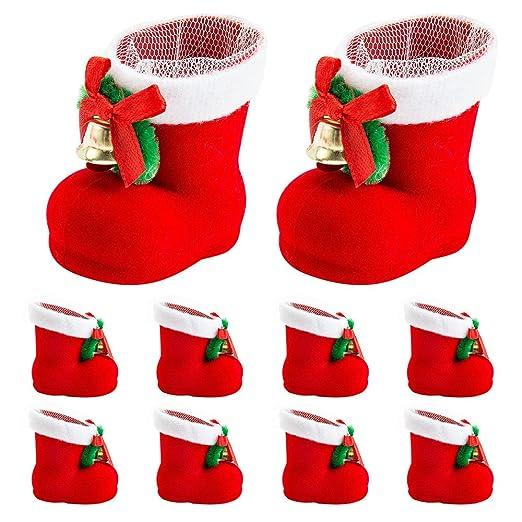 Bolsas decorativas para Navidad con diseño de botas de Papá ...