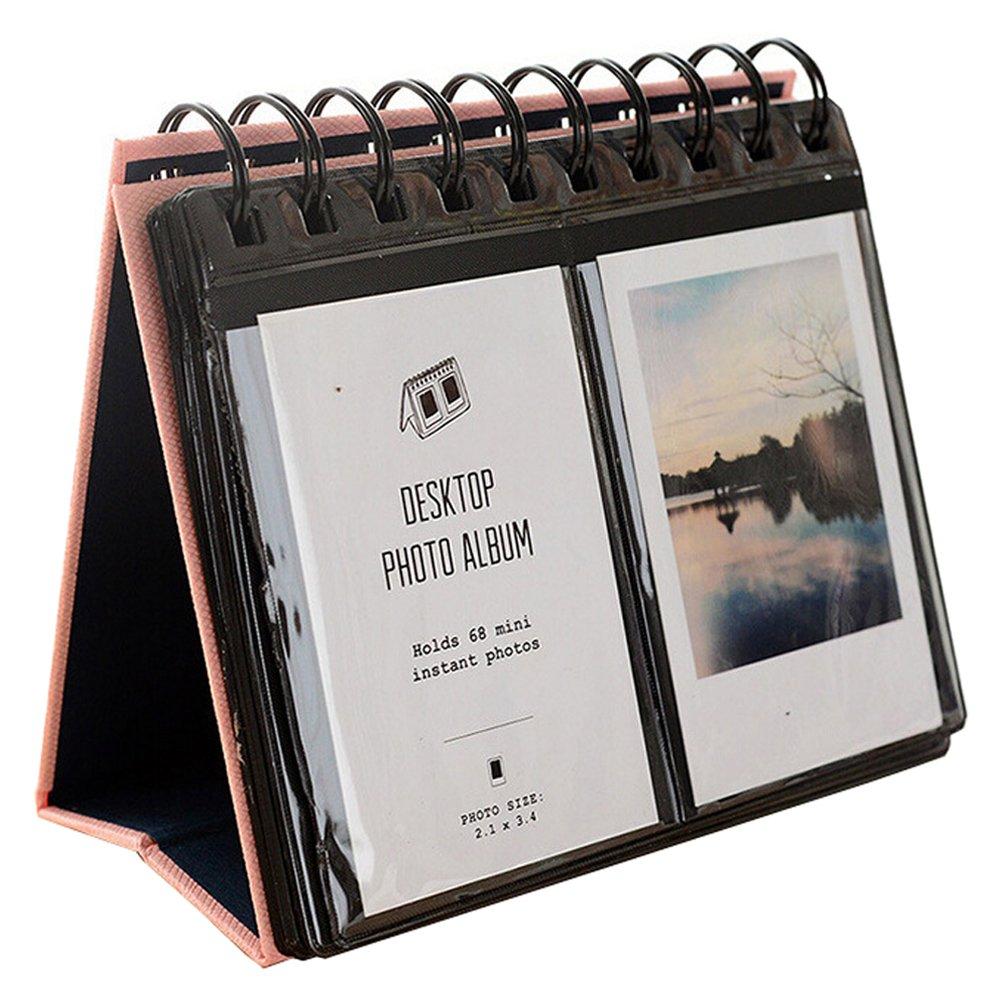 Urvoix(TM) - Portafoto da scrivania, 68 album di mini foto, pellicola Fujifilm Instax Mini 8 7s 25 50s 90 Film, anche per biglietti da visita, colore: rosa