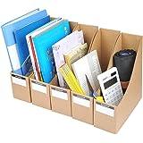 Porta revistas YOTINO, archivadores de cartón corrugado 5pcs con etiquetas adhesivas, organizador de documentos