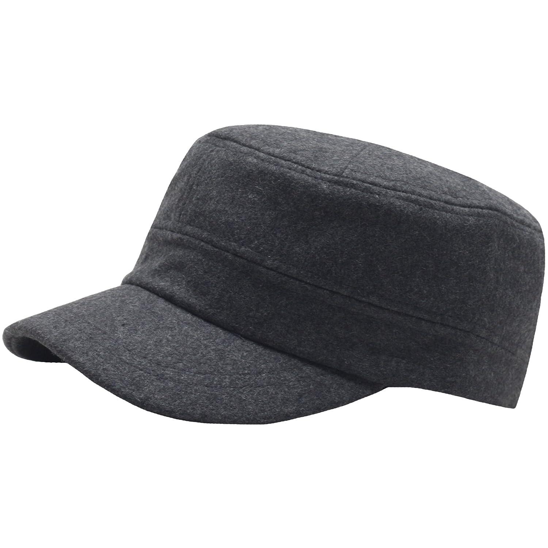 A108 Wool Winter Warm Simple Design Club Army Cap Cadet Military Hat