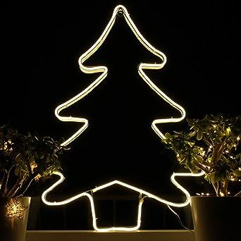 Weihnachtsdeko Led Fenster.Amazon De Weihnachtsdeko Fenster Led Tannenbaum Fensterbilder