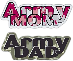 Army Mom Army Dad Magnet Combo Pack (Digital Camouflage Design) - United States Army - Car, Truck, Refrigerator, Etc. - His and Hers - Great Gift!