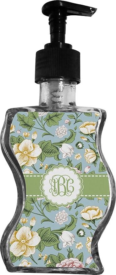 Diseño de flores Vintage botella de jabón/dispensador de con mango