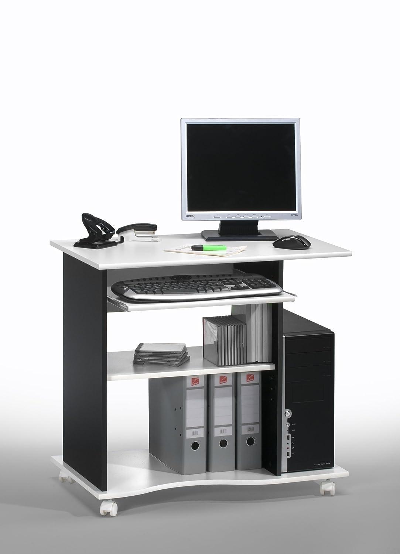 80 x 75 x 50 cm MAJA larghezza x altezza x profondit/à Mobiletto per computer Bianco wei/ß 4024 5535