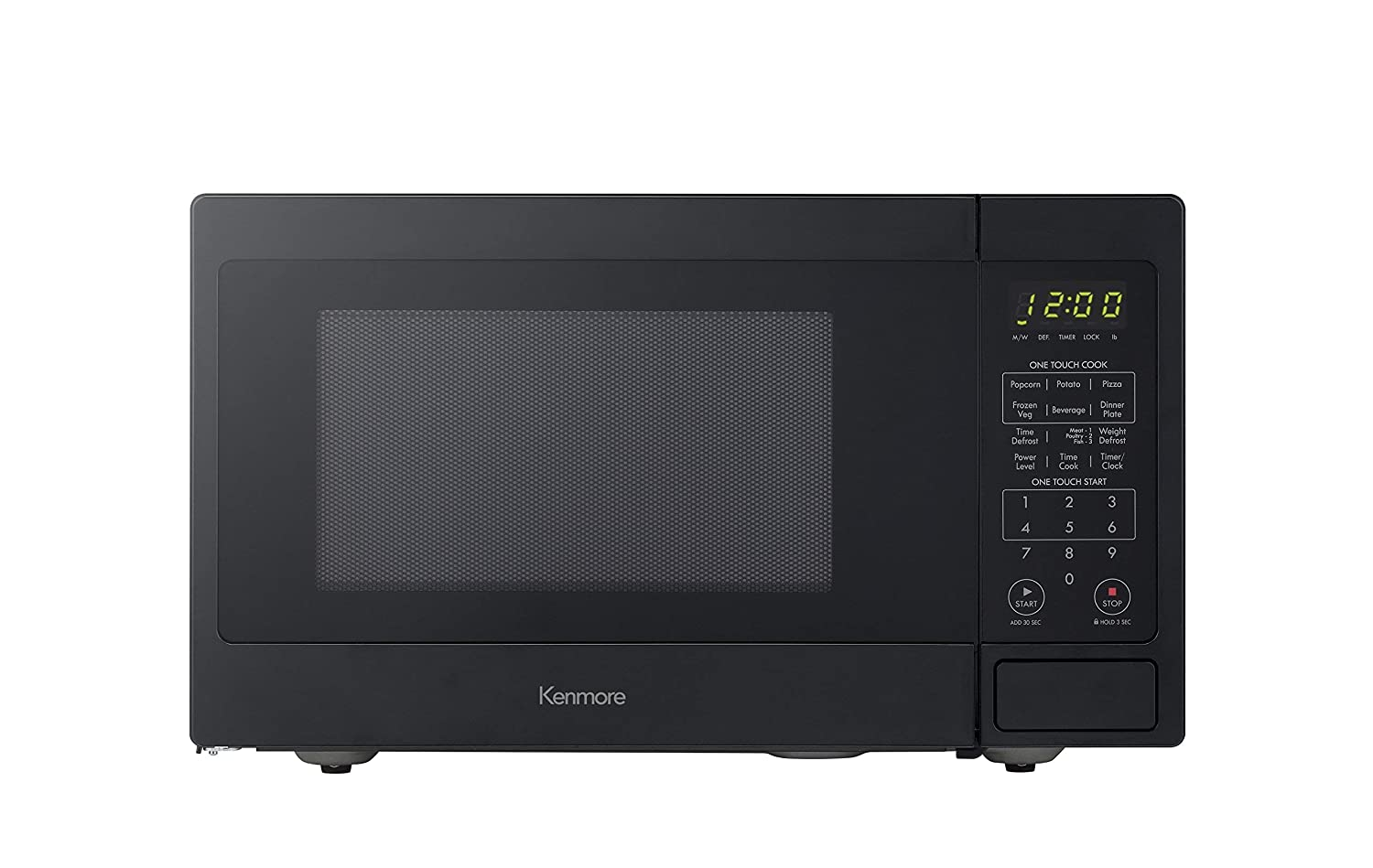 Renewed 0 9 Cu Ft Kenmore 70919 Countertop Microwave Black Small Appliances Microwave Ovens
