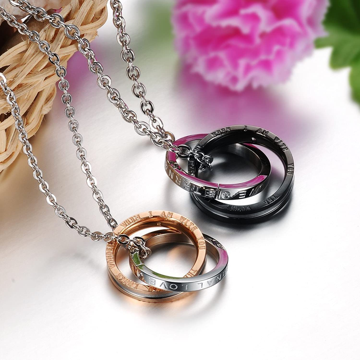 Amazon.com: Dixivi Jewelry a Pair Valentine Couple Matching ...