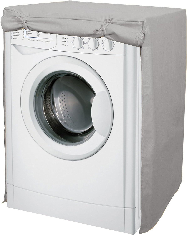 Funda para la lavadora en algodón, en color gris: Amazon.es: Hogar
