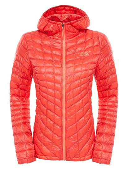 The North Face W Thermoball Veste à Capuche Femme Rouge