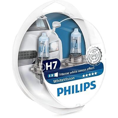 Philips H7 White Vision 3700K Halogen Bulbs Xenon Effect (Pair): Automotive