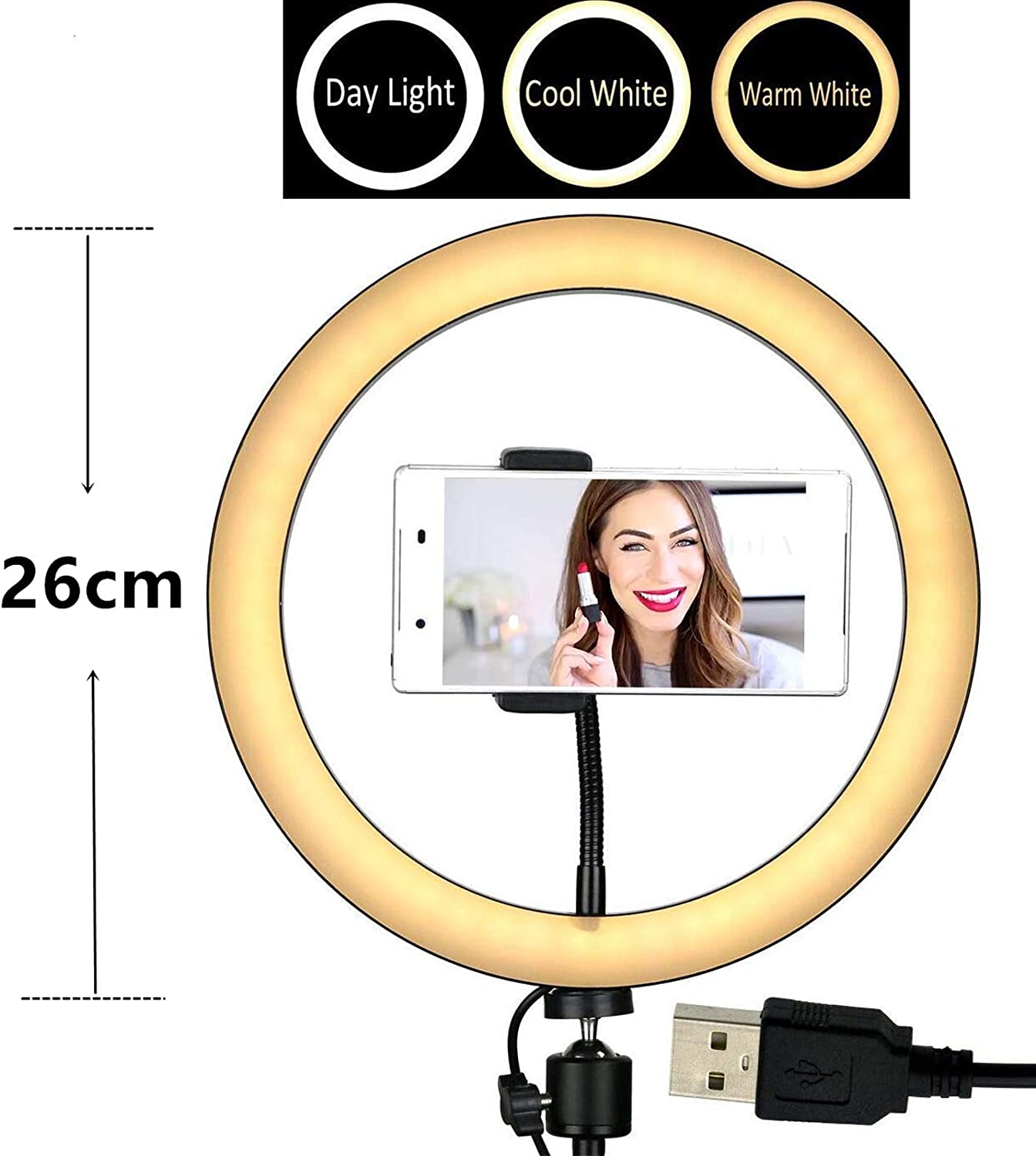 Photo YouTube Vlog Video Makeup Camera LED Fill Light for Live Stream 10 Selfie Ring Light with Tripod Stand /& Cell Phone Holder 6 Ring Light+Tripod Stand+Bluetooth