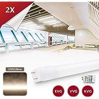 [2 Pièces] LED Néon Tube Fluorescente T8 120cm Lumière d'éclairage de la lampe de remplacement abat-jour Nano-Plastiquede haute énergie 1960lm 17W Blanc Naturel 4000k Culot G13 inclus Starter.