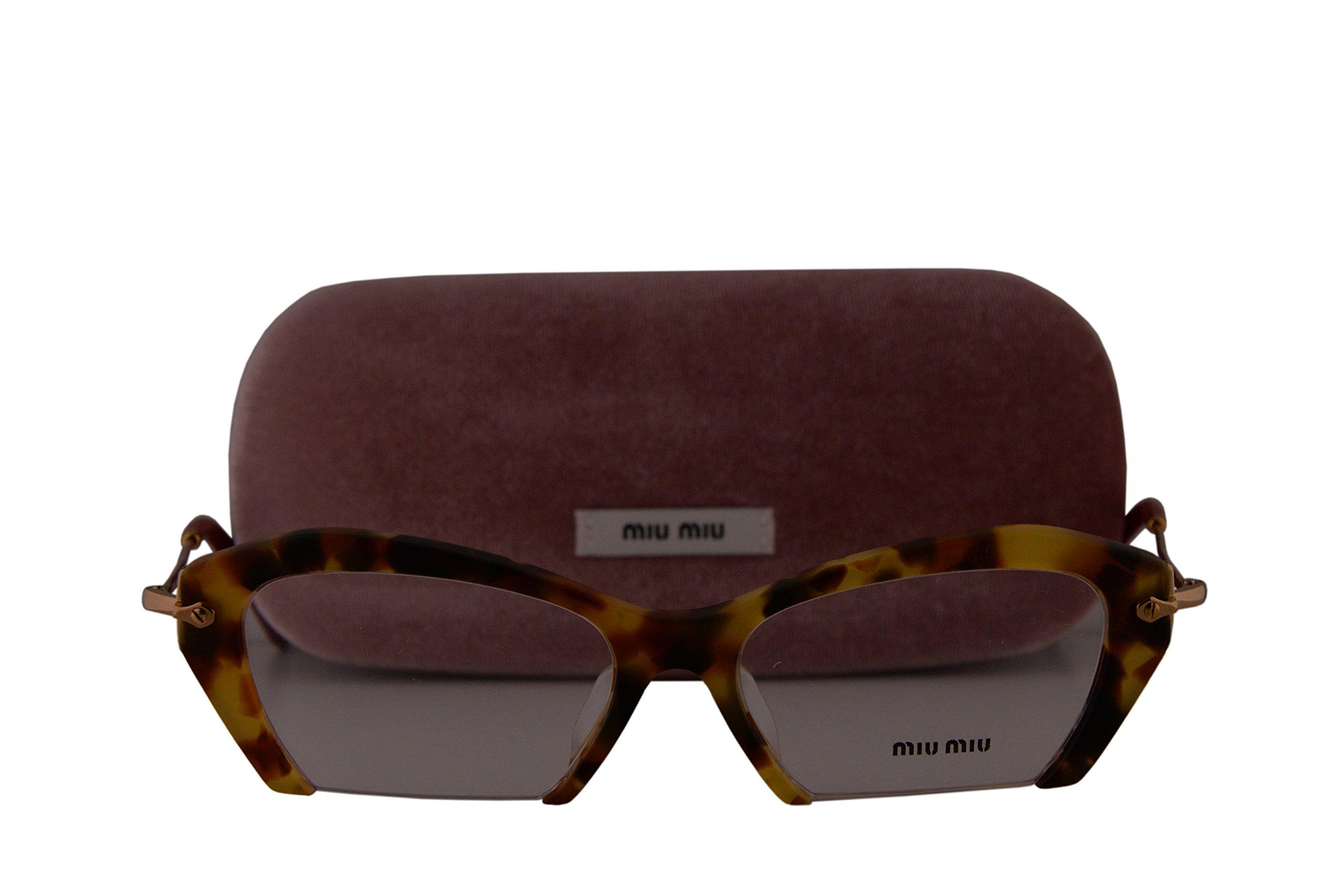Miu Miu MU03OVA Eyeglasses 53-17-140 Sand Medium Havana w/Demo Clear Lens UA51O1 MU 03OV VMU03OV VMU 03OV