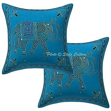 Amazon.com: Stylo cultura turquesa algodón 16 x 16 hilo ...
