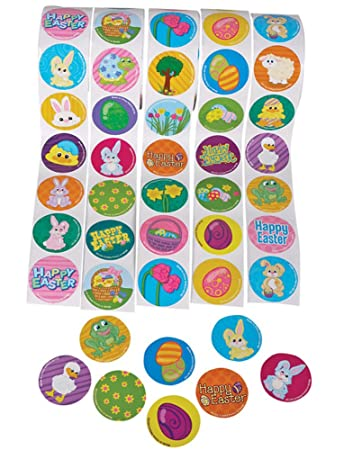 Amazon.com: Lot Of 500 Assorted Easter Theme Stickers: Toys & Games