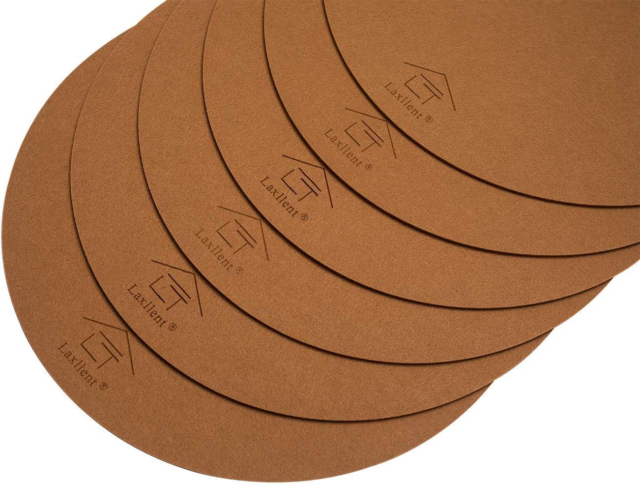 Laxllent Mantel Individual,Salvamanteles Individuales,6 Sets,Lavable M/ás Grueso Aislado,Rectangular,Tela de Fieltro,Gris Claro