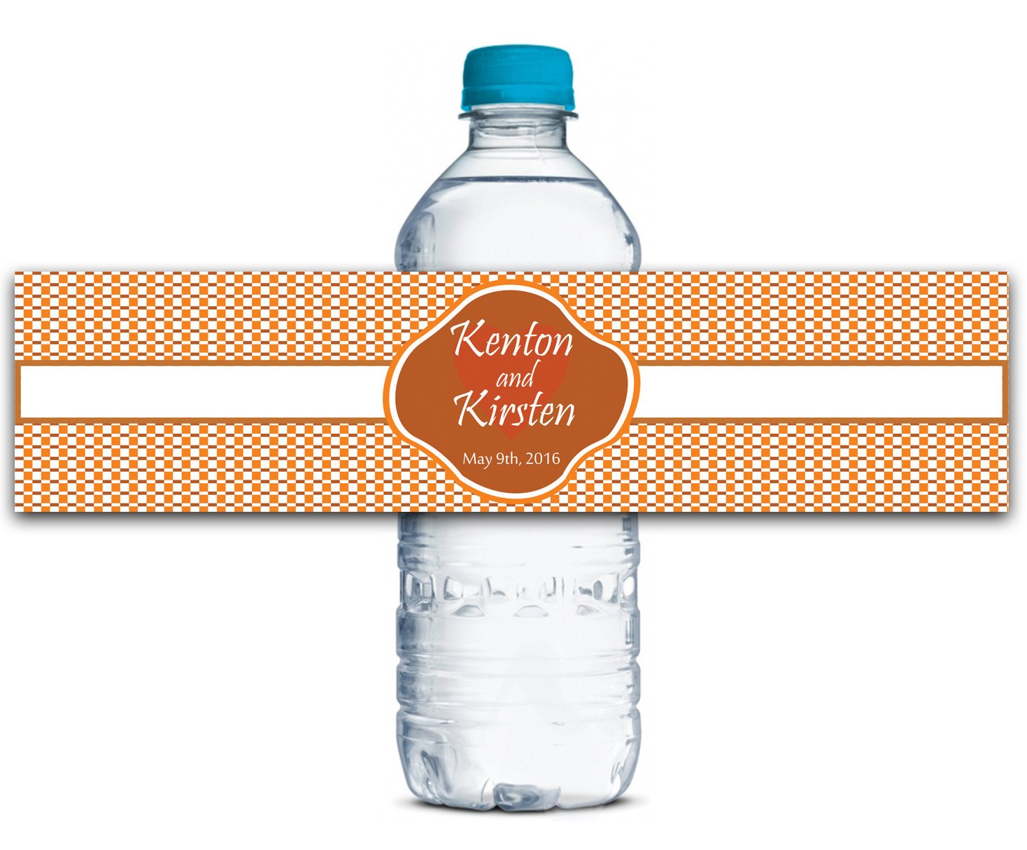 Personalisierte Wasserflasche Etiketten Selbstklebende wasserdichte Kundenspezifische Hochzeits-Aufkleber 8    x 2  Zoll - 50 Etiketten B01A0W1RN6   Elegantes und robustes Menü  069d07