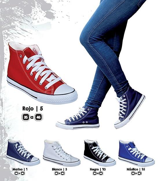 Zapatillas Bota Lona LONETA Tipo Basket: Amazon.es: Zapatos y complementos