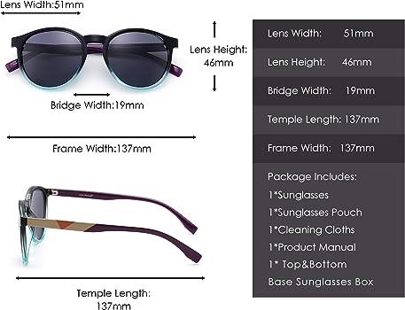 Polarizadas Redondo Gafas de Sol Vintage Círculo Lentes Claro Marco Sombras Hombre Mujer