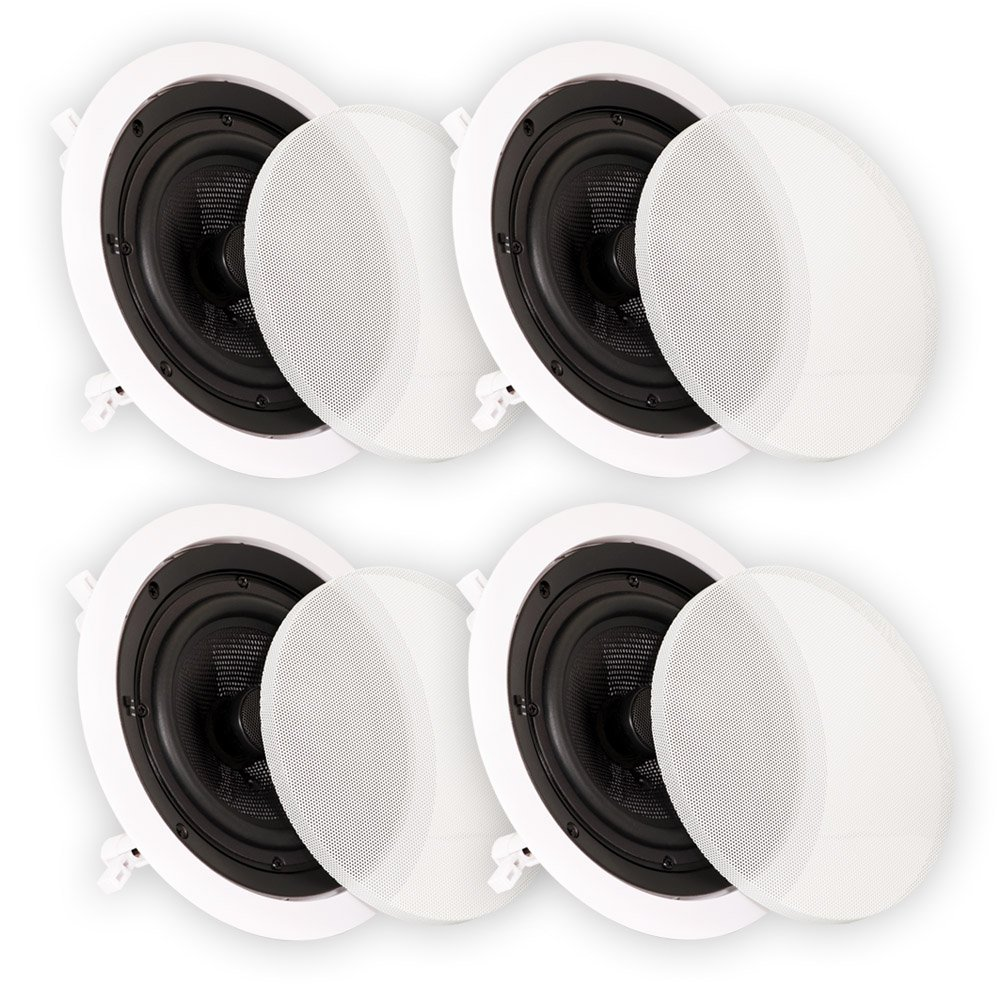 Theater Solutions TSS6C In Ceiling 6.5'' Speakers Surround Sound Home Theater Deluxe 2 Pair Pack 2TSS6C by Theater Solutions