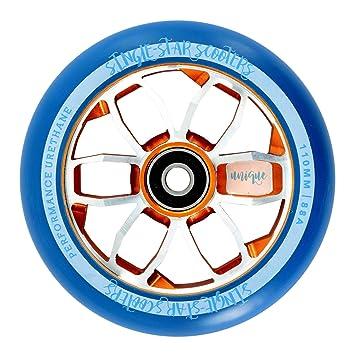 SINGLE-STAR Rueda para Patinete 110 mm de Alto Rebote de ...