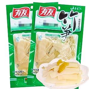 四川特产有友山椒竹笋120gX5泡椒味笋片山椒脆笋零食素食休闲小吃