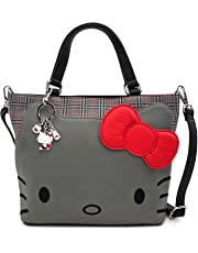 Loungefly x Hello Kitty Faux-Leather Plaid Tote Handbag