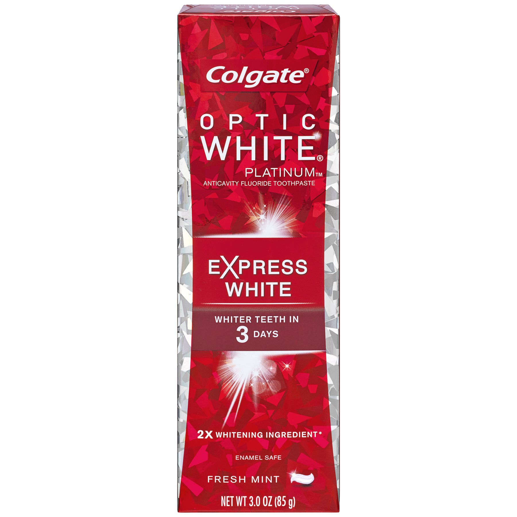 Colgate Optic White Express White Whitening Toothpaste - 3 ounce (Pack of 6)