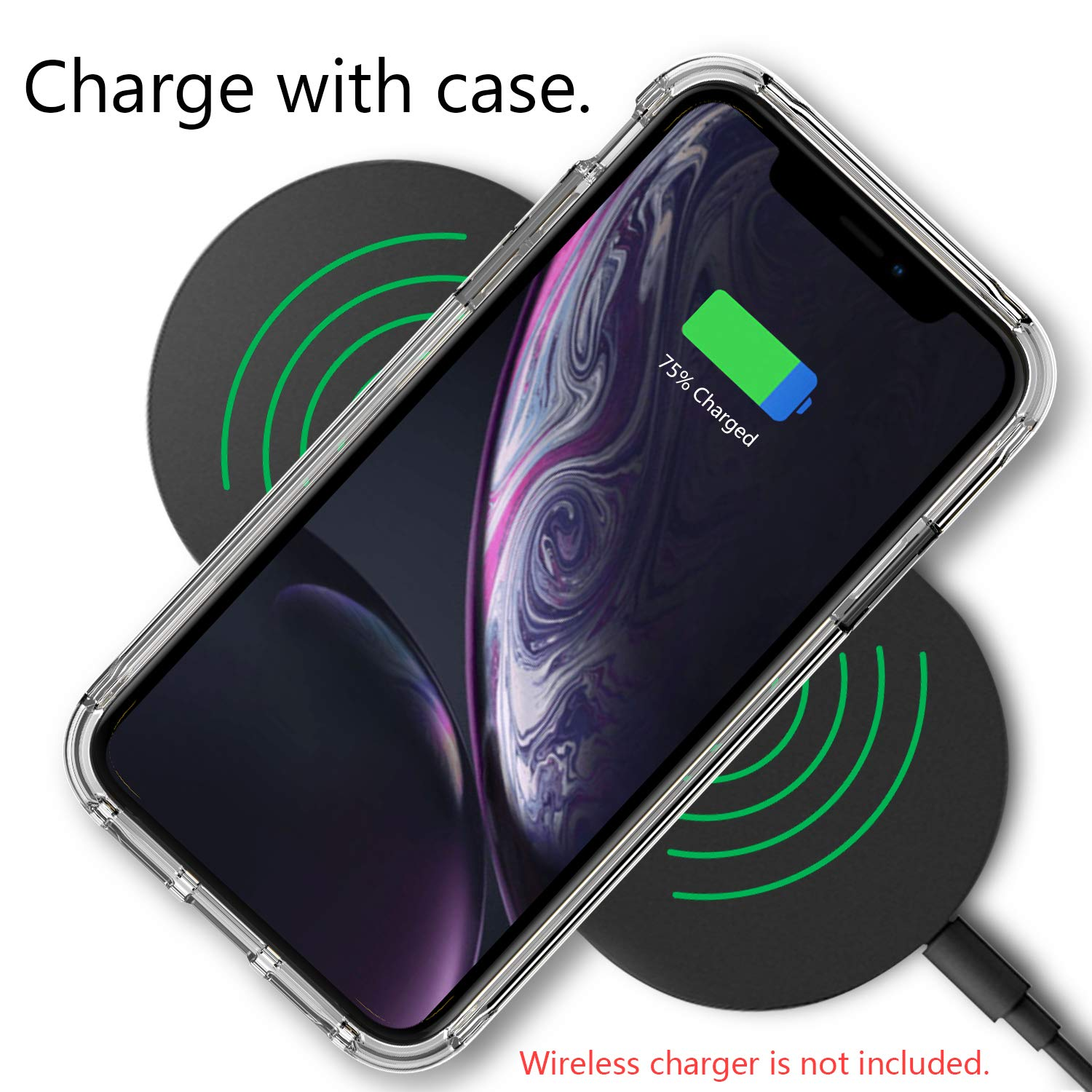 EFFENX iPhone XR Case - Clear Cover iPhone XR Shockproof Bumper with Air Cushion Protective case Soft and Slim (Clear Color) by EFFENX (Image #6)