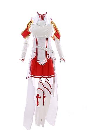 c13a870ca99 MN de 14 Asuna Sword Art Online Sao Blanco Juego Anime Cosplay Disfraz de:  Amazon.es: Ropa y accesorios