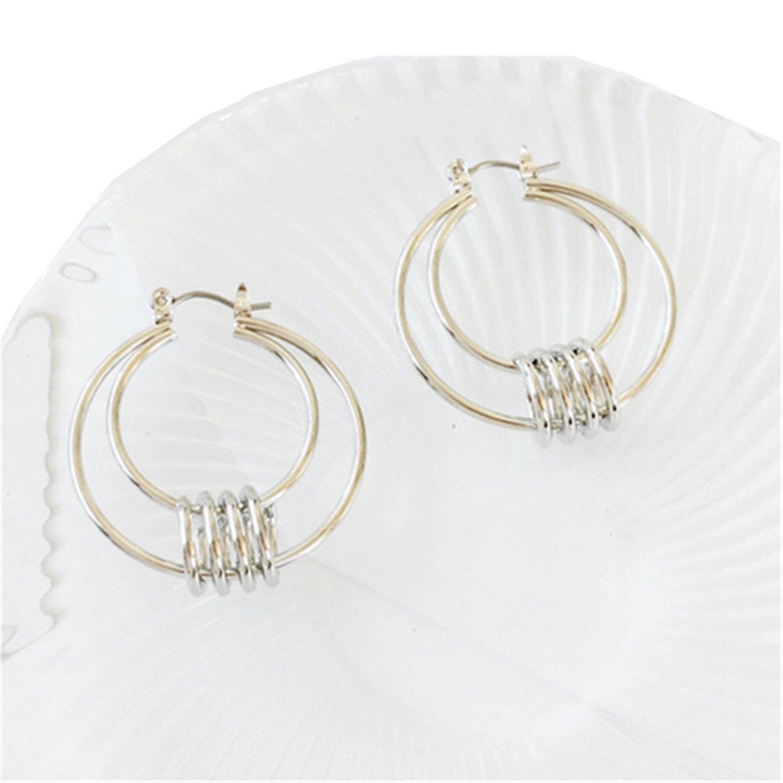 QIANNVSHEN Size 3.33.7 Cm Geometric Circular Earrings Tide Female Character Joker Earrings
