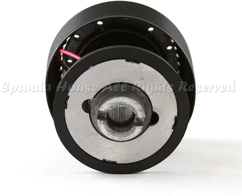 EpandaHouse Compatible with 92-95 Honda Civic USA 320mm Carbon Fiber Pattern Grip Steering Wheel Hub Boss