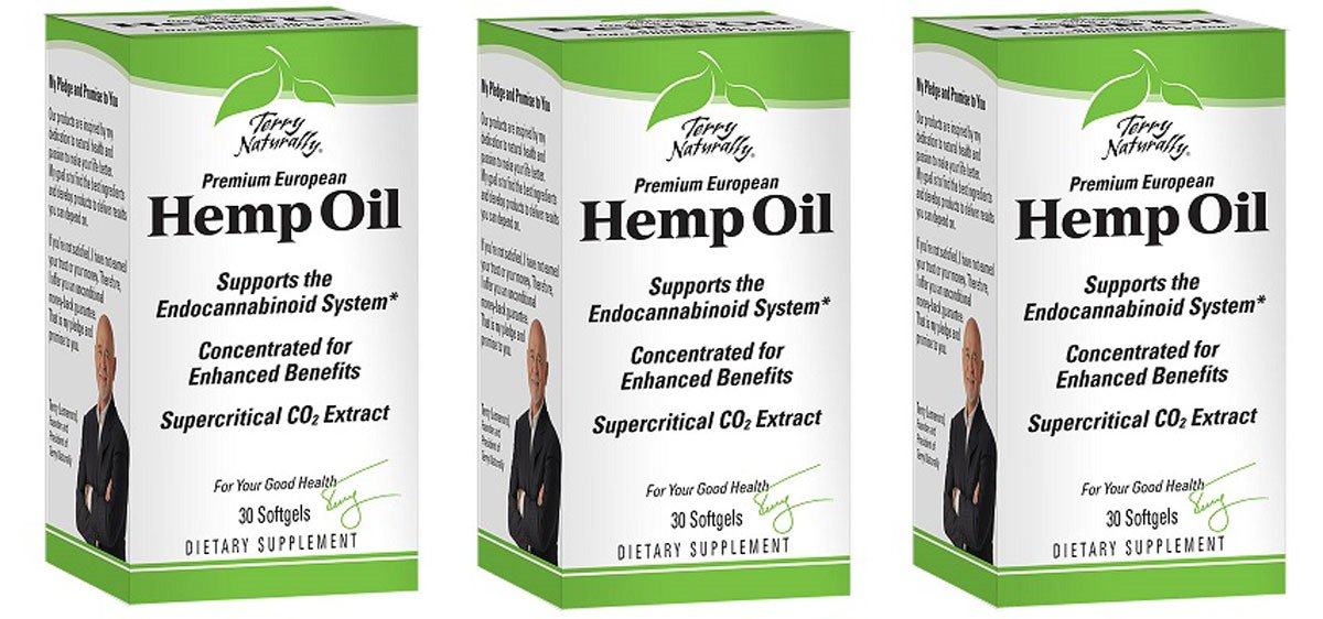 Europharma/Terry Naturally Hemp Oil Concentrated for Enhanced Benefits 30 Soft Gels (3)